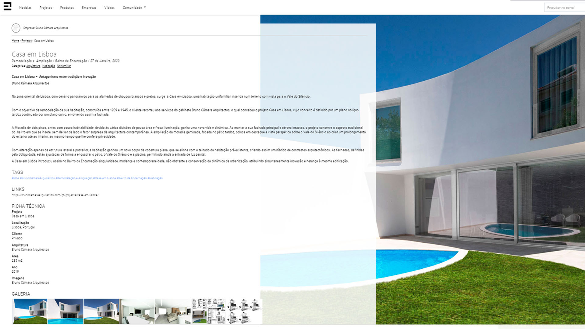 Projecto de construção pela construtora Cvz-Construções